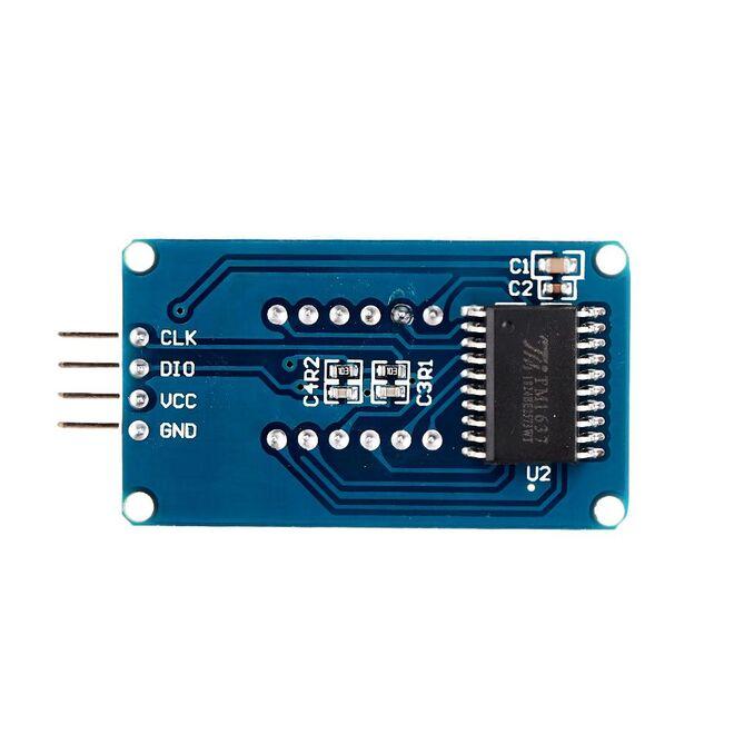 4′lü 7-Segment TM1637 KIrmızı Display Modülü