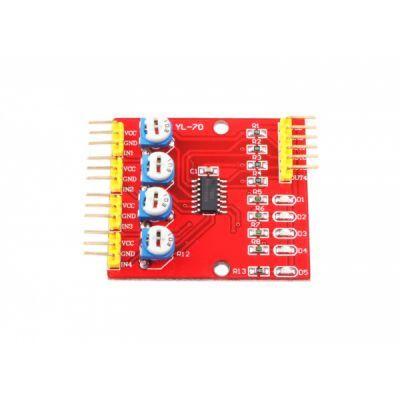 4'lü Çizgi İzleyen Sensör Seti - 4 Way Tracking Module