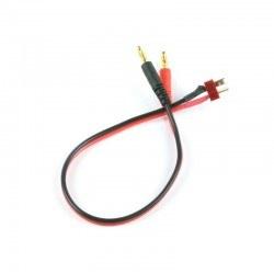 China - 4 mm Banana - Erkek T Plug Dönüştürücü Kablo - 30 cm, 18 AWG