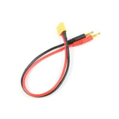 4 mm Banana - Erkek XT60 Dönüştürücü Kablo - 30 cm, 14 AWG