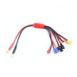 China - 4mm Banana to Multi-Lead Charger Cable - 30cm