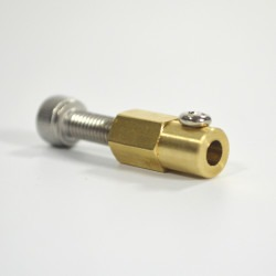 Nexus Robot - 4mm Brass Hex Coupling For 38MM Plastic Omni Wheel - 18037