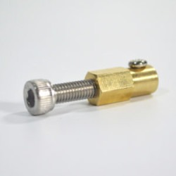 4mm Brass Hex Coupling For 38MM Plastic Omni Wheel - 18037 - Thumbnail