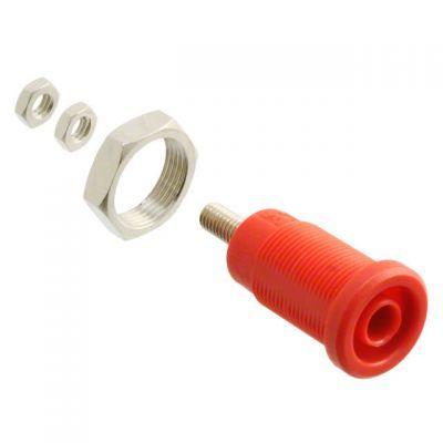 4 mm Korumalı Tip Bourn Jak - Kırmızı