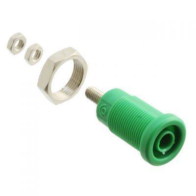 4 mm Korumalı Tip Bourn Jak - Yeşil