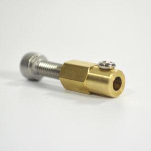 4mm Pirinç Kaplin (38 mm Plastik Omni Teker Uyumlu) - 18037