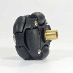 4mm Pirinç Kaplin (38 mm Plastik Omni Teker Uyumlu) - 18037 - Thumbnail