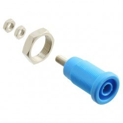 China - 4MM Safe Type Bourn Jack - Blue