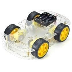 Robotistan - 4WD Çok Amaçlı Mobil Robot Platformu - Şeffaf