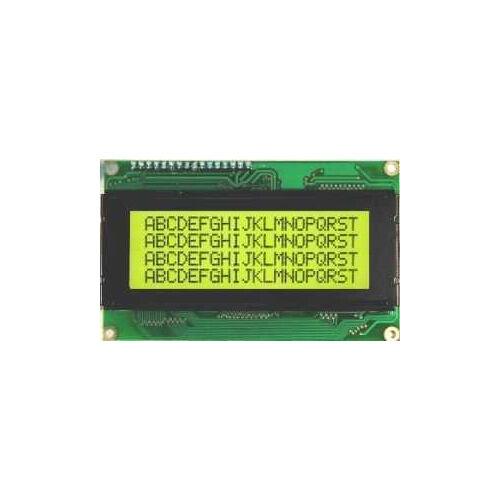 4x20 LCD Screen, Black Over Green - TC2004A-02WA0