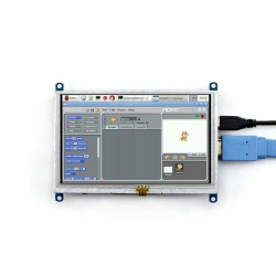 WaveShare 5 Inch HDMI Rezistif Dokunmatik LCD Ekran - 800x480 (B) - Thumbnail