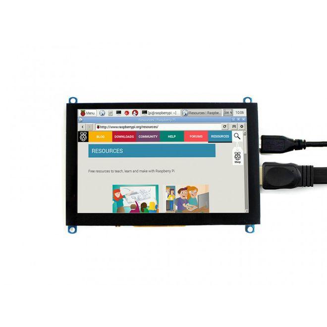 WaveShare 5 Inch HDMI Kapasitif Dokunmatik LCD (Çoklu Sistem) - 800x480 (H)
