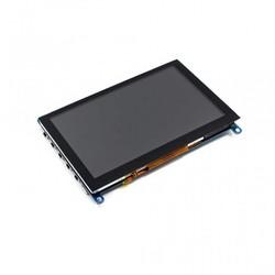 WaveShare - WaveShare 5 Inch HDMI Kapasitif Dokunmatik LCD (Çoklu Sistem) - 800x480 (H)