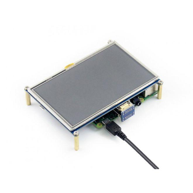 WaveShare 5 Inch HDMI Rezistif Dokunmatik LCD - 800x480