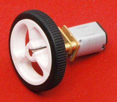 50:1 Arkadan Mil Çıkışlı 12 V 625 RPM Karbon Fırçalı Mikro Metal DC Motor - PL-3050