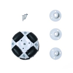 50mm Plastic Omni Wheel - White - Thumbnail