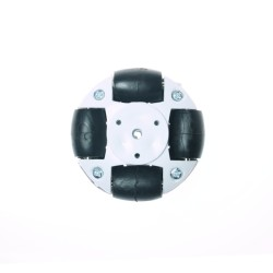 Robotistan - 50mm Plastik Omni Tekerlek - Beyaz