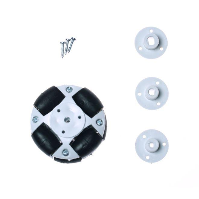 50mm Plastik Omni Tekerlek - Beyaz