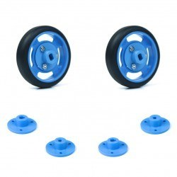 Robotistan - 50x11mm Blue Wheel Set