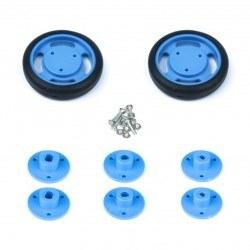 50x11 mm Mavi Renk Geçmeli Tekerlek Seti - Thumbnail