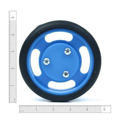 50x11 mm Mavi Renk Geçmeli Tekerlek Seti