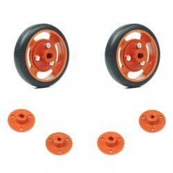 Robotistan - 50x11mm Orange Wheel Set