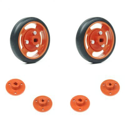 50x11mm Orange Wheel Set
