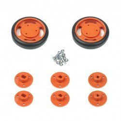 50x11mm Orange Wheel Set - Thumbnail