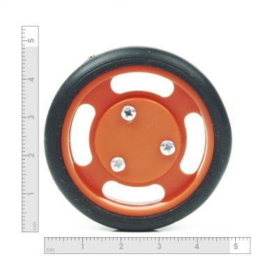 50x11 mm Turuncu Renk Geçmeli Tekerlek Seti