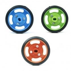 50x11 mm Yeşil Renk Geçmeli Tekerlek Seti - Thumbnail