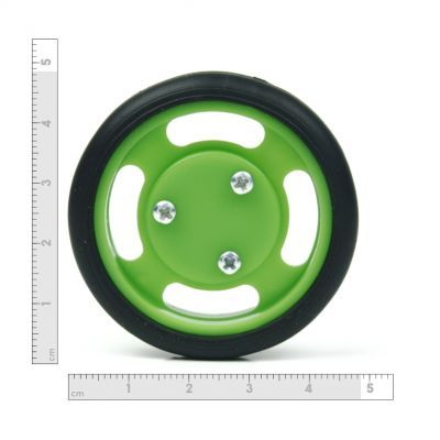 50x11 mm Yeşil Renk Geçmeli Tekerlek Seti