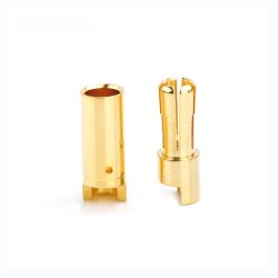China - 5.5mm Banana Battery Connector Bare Metal (Male-Female single pair)