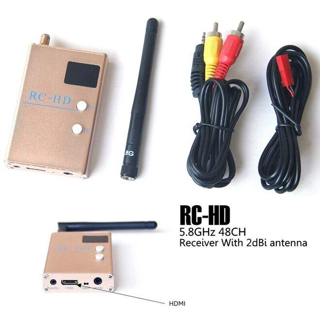 5.8 Ghz 48 Kanal FPV RC-HD Alıcı Modül (AV ve HDMI Çıkışlı)