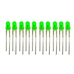 5mm Green Led Package - 10 - Thumbnail
