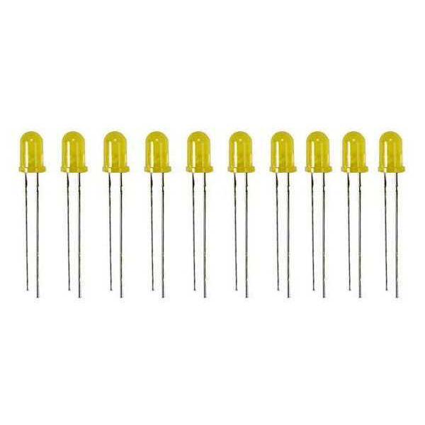 5 mm Sarı Led Paketi - 10 Adet