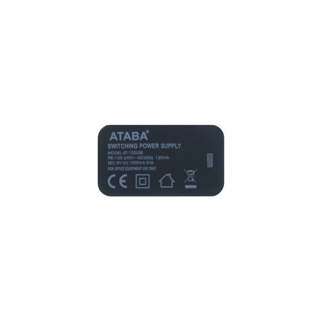 5V 1000mA Adapter with USB Output - AT-105USB