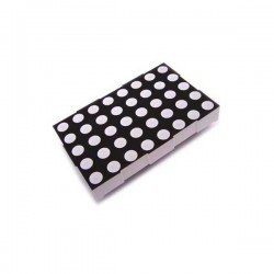 KPM - 5x7 5mm Led Common Anode Dot Matrix - KPM-2057BSRND