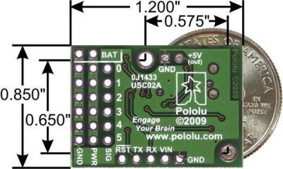 6 Channel USB Servo Motor Control Board