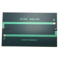 6 V 125mA Solar Sell - Solar Panel 105x66mm - Thumbnail