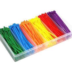 China - 600Pcs Colorful Plastic Nylon Tie 3x100mm with Case for RC Accessory