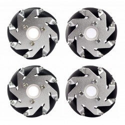 Nexus Robot - 60mm Aluminum LEGO Compatible Mecanum Wheel Set (With Bearings)