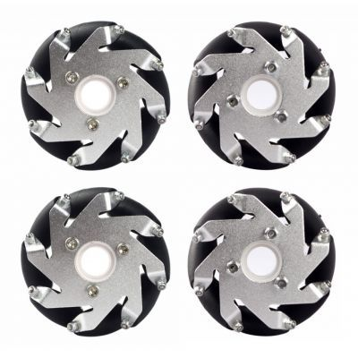 60mm Aluminum LEGO Compatible Mecanum Wheel Set (With Bearings)