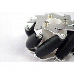 60mm Aluminum LEGO Compatible Mecanum Wheel Set (With Bearings) - Thumbnail