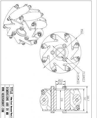 60 mm LEGO Uyumlu Mecanum Tekerlek Seti - 14159