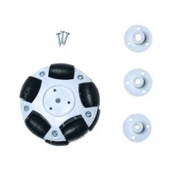 60mm Plastic Omni Wheel - White - Thumbnail