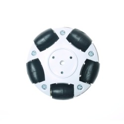Robotistan - 60mm Plastik Omni Tekerlek - Beyaz