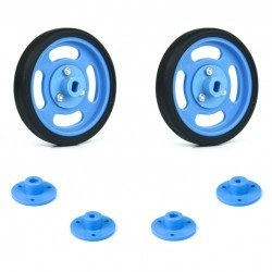 Robotistan - 60x11mm Blue Wheel Set