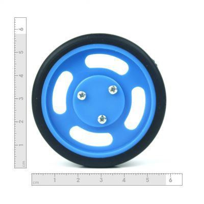 60x11 mm Mavi Renk Geçmeli Tekerlek Seti
