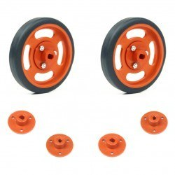 Robotistan - 60x11mm Orange Wheel Set