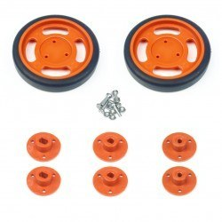 60x11mm Orange Wheel Set - Thumbnail